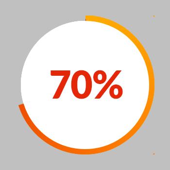 70% Pie Chart icon