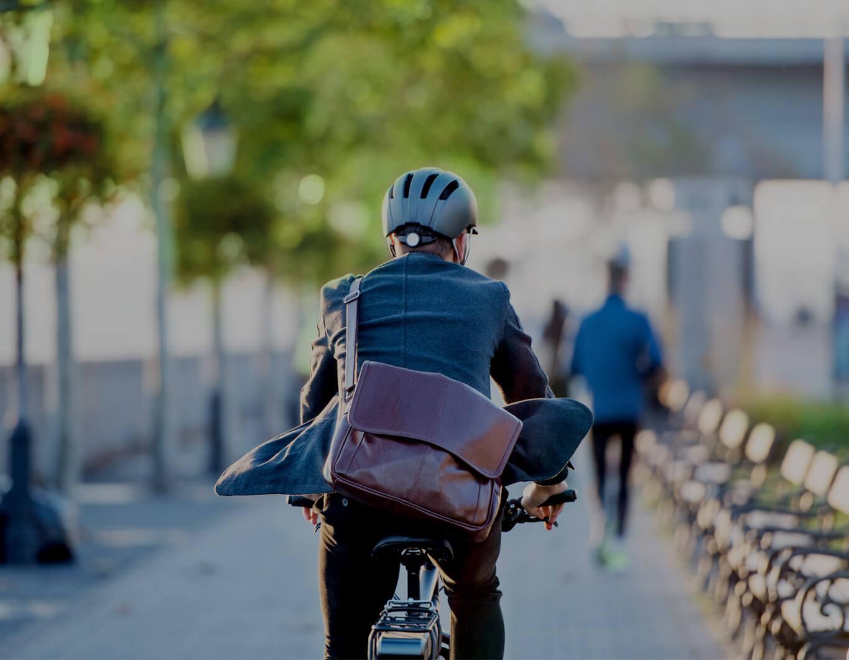 Man riding a bicycle