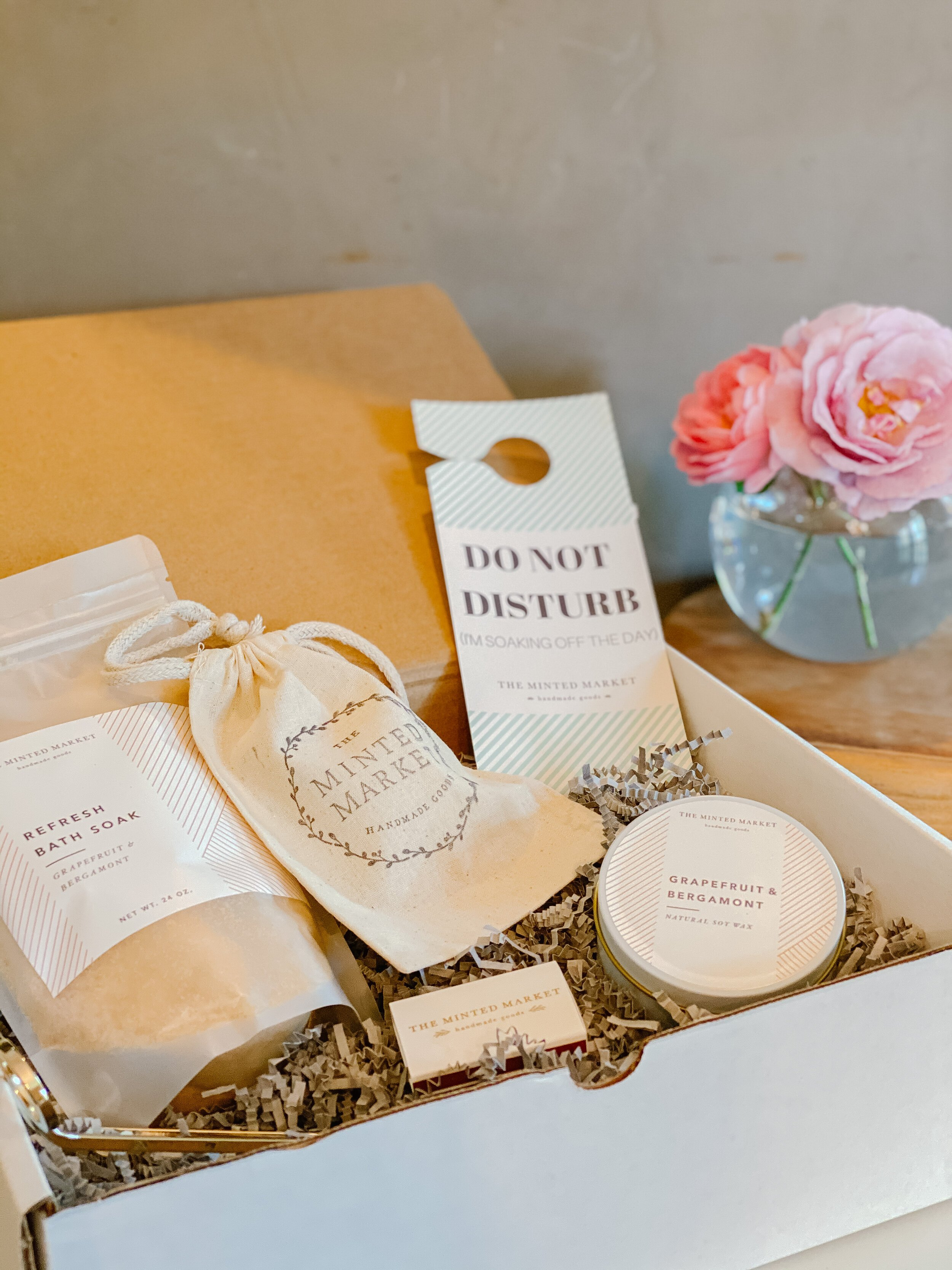 Bath soak gift basket made by The Minted Market